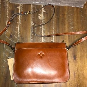 Patricia Nash Nazaire Top Crossbody Tan NWT